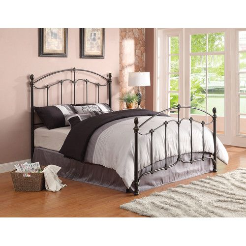 Found it at Wayfair - Metal Headboard and Footboard in Antique Brass