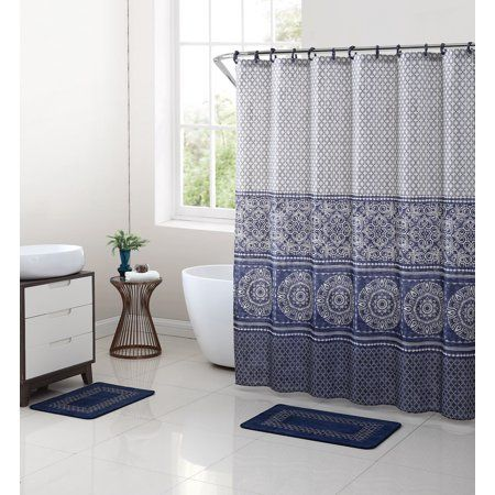 Home Blue Shower Curtains Fabric Shower Curtains Shower