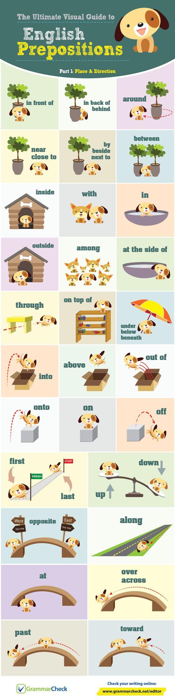 English Prepositions Part 1/2! Impossível de esquecer as preposições de LUGAR E DIREÇÕES com esse cachorro fofo, não ?!: