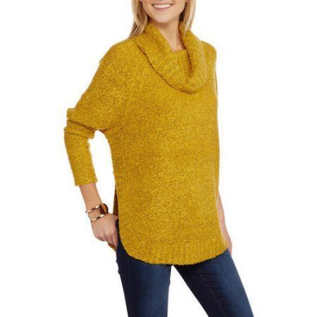 Faded Glory Women's Boucle Cowl Neck Sweater | Cowls, Cowl neck ...