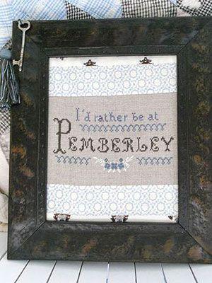 Pattern - I'd rather be at Pemberley - Sampler Jane Austen Online Giftshop