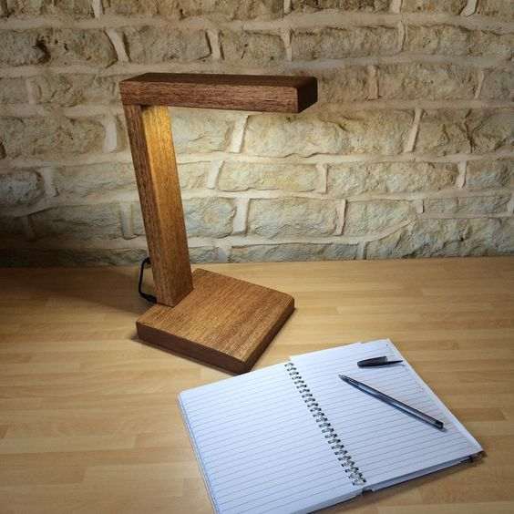 Solid Wood LED Desk / Table / Reading Lamp