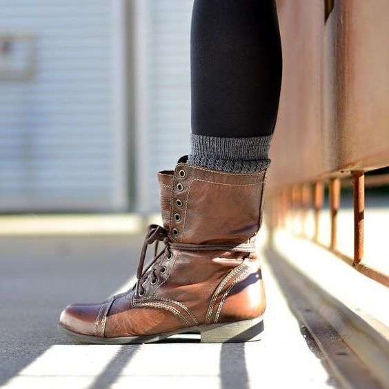 abused Steve Madden combat boots