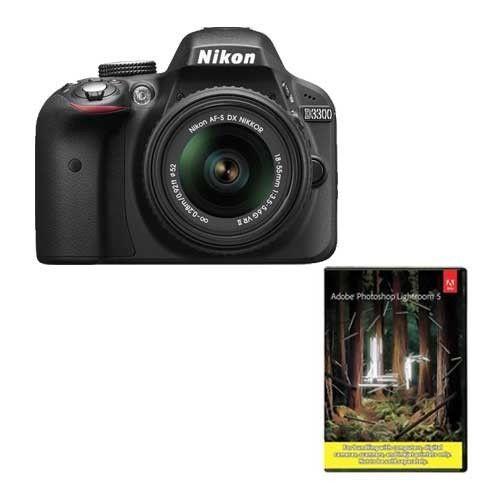 Nikon D3300 DSLR Camera +18-55mm VR II Lens (refurb) + Adobe LR5 $430 + Free Shipping