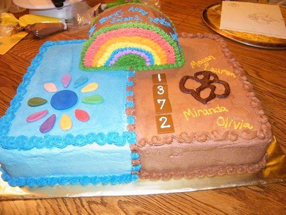 Daisy to Brownie bridging cake