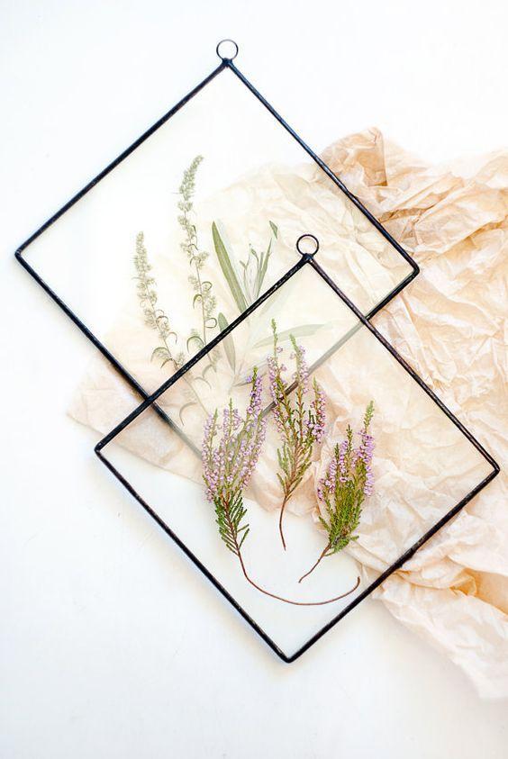 Feuilles pressées Fleurs séchées naturelles Scrapbooking Cards making