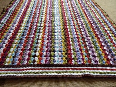 Treble Crochet Baby Blanket Pattern : Crochet blanket made with the shell stitch and a simple ...