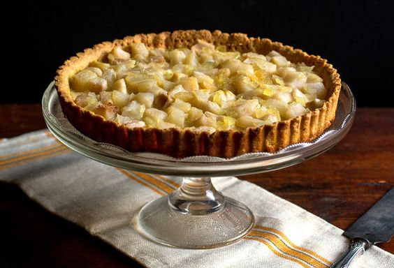 GF Pear Ginger Tart - #nomnom!: Apple Tarts, Tart Recipes, Pumpkin Pie, Tarts Recipe, Sweet Tarts, Favorite Recipes