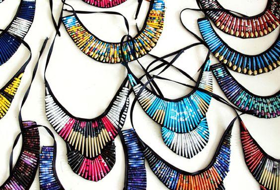Quazi Design Creates Stunning Eco Jewelry From Old Magazines Quazi Design Recycled Magazine Jewelry – Inhabitat - Green Design, Innovation, Architecture, Green Building