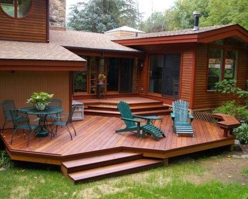 Multi Level Deck With No Railing Multi Level Deck Deck Designs