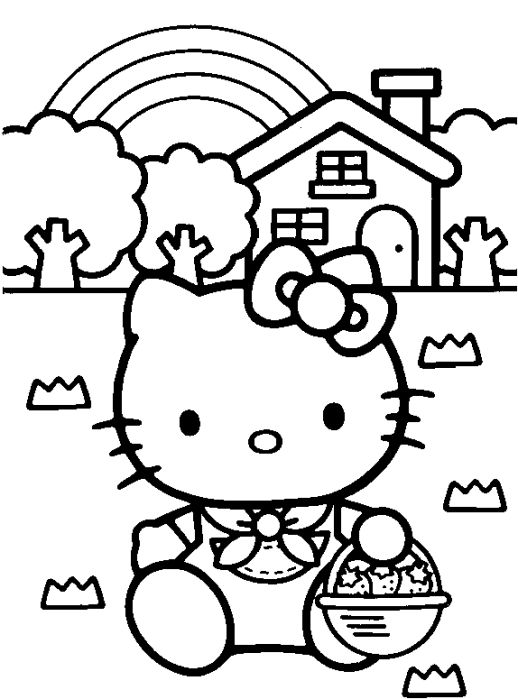 Coloring, For kids and Hello kitty on Pinterest - new coloring pages with hello kitty