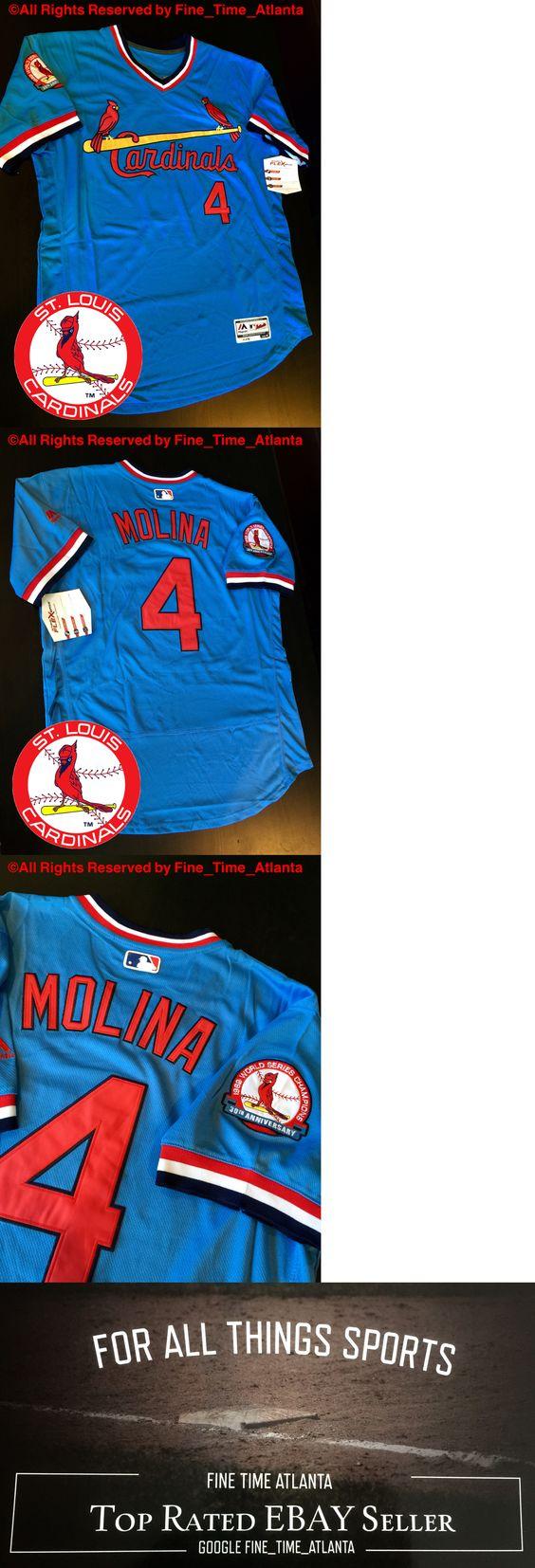 5fd8ef00 best price baseball mlb 24410 new yadier molina st. louis cardinals youth  nwt jersey majestic