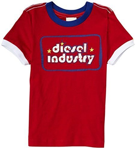 Diesel Little Boys' Ringer Tee  (Kid) - Red - 4 Diesel