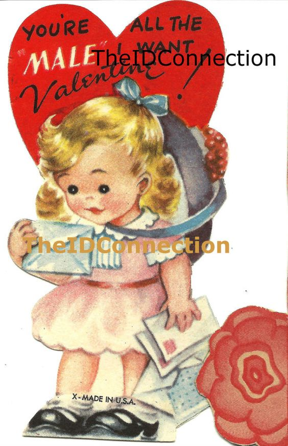 Vintage Valentine Digital Download You're all by TheIDconnection, $10.00   Vintage Valentine Digital Download You're all Valentine   http://TheIDconnection.etsy.com Retro 1950's Valentines http://etsy.me/1lexkOn via @Etsy   unique cards scanned from the Roland Dressler Collection, Galveston, Texas   Need more info? ... convo me via Etsy   http://TheIDconnection.etsy.com