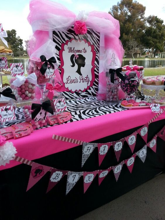 Barbie Party Candy Buffet: