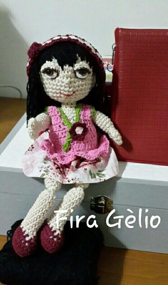 Fira Gèlio, crochet doll from Gèlio collection