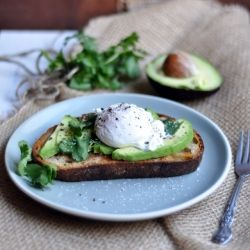 poached egg and avocado