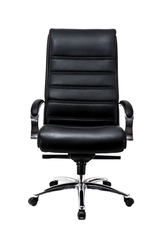 Available in Black/Chocolate Alterna Leather. Found it at Wayfair - 3 Series High-Back Office Chair. http://www.wayfair.com/At-The-Office-3-Series-High-Back-Office-Chair-QMZ1015.html