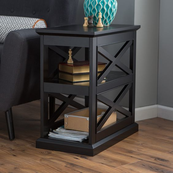 Have to have it. Belham Living Hampton Chair Side Table - Black - $129.99 @hayneedle.com