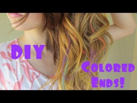 DIY Colored Ends Using Chalk! Hair Chalking :)