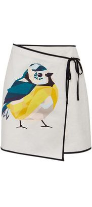 ShopStyle Collective, MSGM Sparrow Print Cotton W...