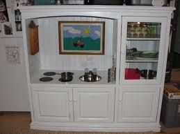 Kids Kitchen from a Recycled Entertainment Center