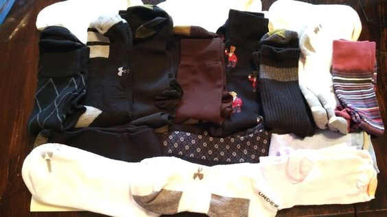 Mens/Ladies Socks NWOT Lot of 16 Pr Under Armour Ralph LaurenTommy Hilfiger  #Multiple #Dress