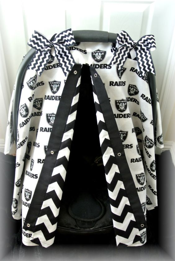 Oakland Raiders Infant Car Seat Covers