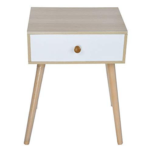 Bedroom Bedside Table Night Stand Wood Cabinet Storage Side Table 1 Drawer Pine