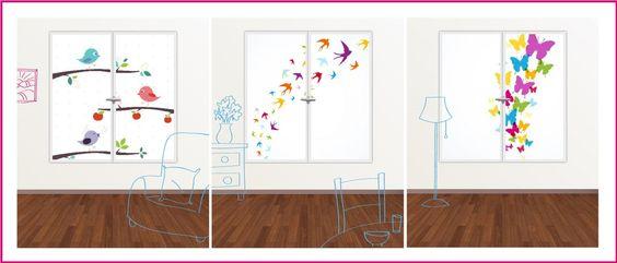 Cui-cui! les jolis petits oiseaux! Créez votre horizon sur www.jedecoremonvolet.com