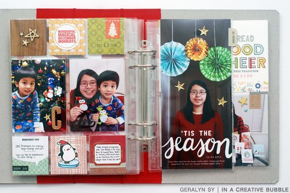 December Daily 2014 // Part III (+ New SC Subber Promo!) love how she cuts 6 x 8 protector in half!