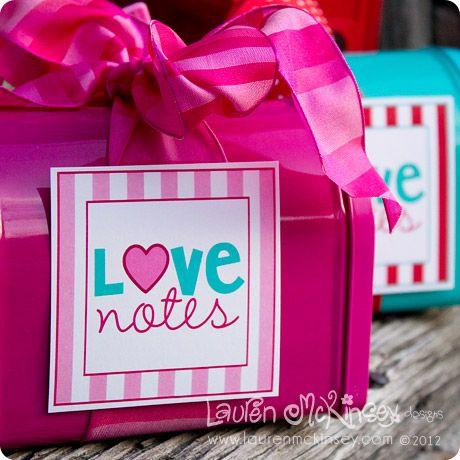 darling free Valentine's Day printable tag