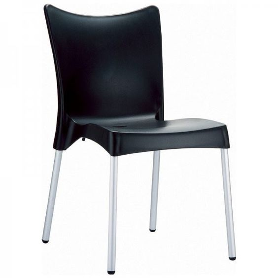 "Juliette Resin Dining Chair - Set of 2 (Black) (32.5""H x 23""W x 21""D)"