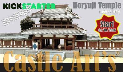 10mm Wargaming: Kickstarter, Horyuji Temple by Castle Arts