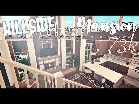 Bloxburg Hillside Cheap Mansion No Advanced Placing Youtube