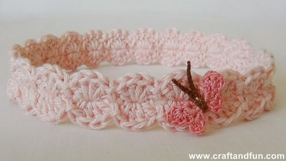 #Tutorial - Crochet baby Headband