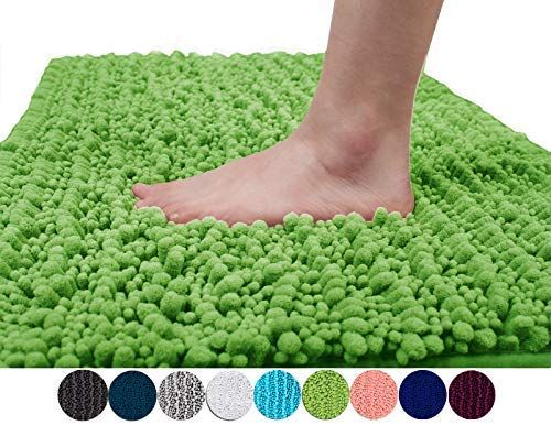 Amazon Com Yimobra Original Luxury Shaggy Bath Mat Large Size 31 5 X 19 8 Inch Super Absorbent Water Non Sli Chenille Bath Mat Colorful Rugs Washable Bath Mat