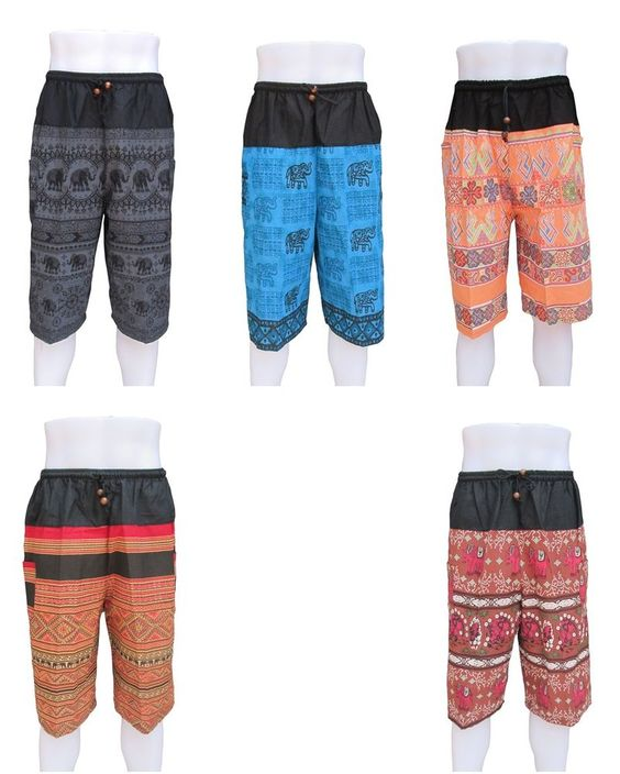 Mens Shorts Hobo Tribal Hippie Thai Free Size 30 - 36 Inch Waist ...