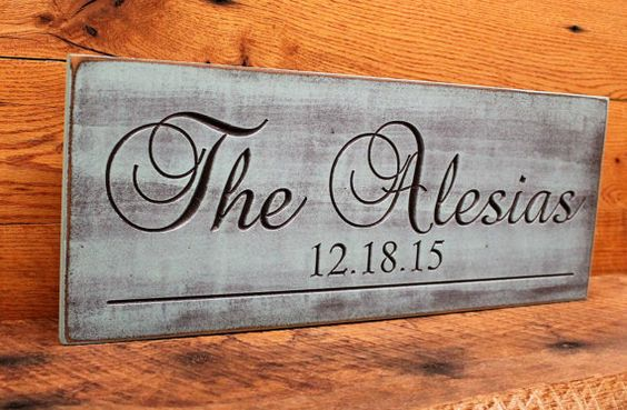 Rustic last name sign carved  Established Date Plaque  Last Name Sign Wall Sign Carved Engraved Christmas, Mother's day, Wedding gift