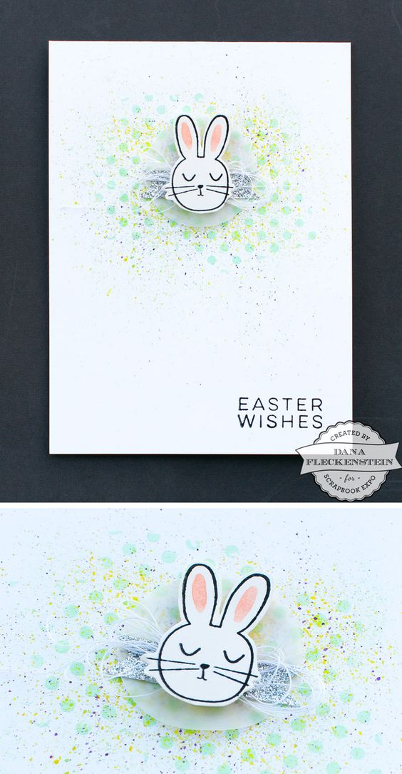 Easter Bunny Card by @pixnglue for @scrapbookexpo #eastercard