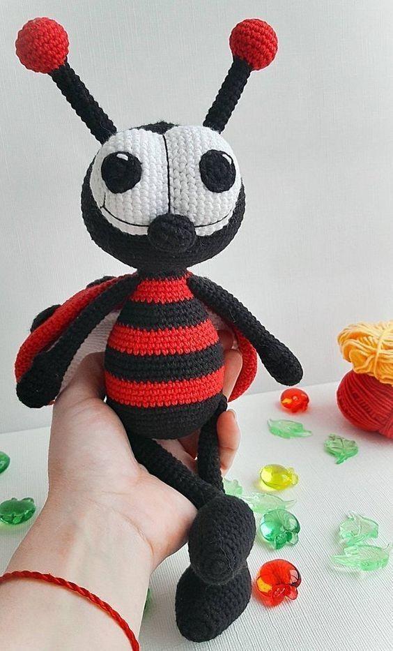 Crochet Amigurumi Ladybug PATTERN ONLY, Jadybug, pdf Stuffed ... | 933x564