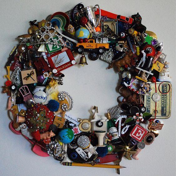 Got little toys? Make a cool wreath.