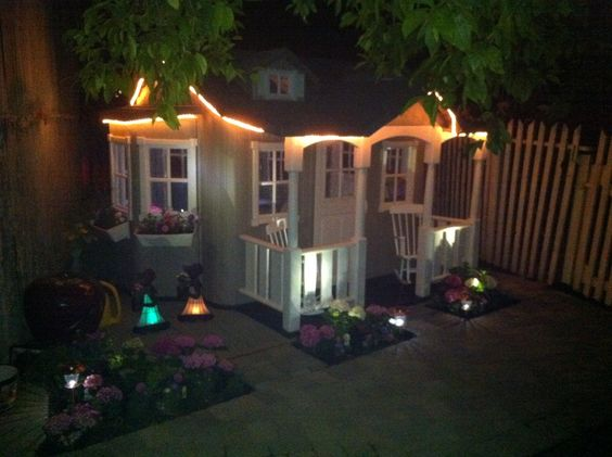 """Thinking Outside """"The Cottage"""" playhouse - found through Craig's List.  Have no idea why they stopped making this.  When the grandbabies are done with it, it will become a shed.  It's all heavy duty, molded plastic and cleans like new with a magic sponge."""