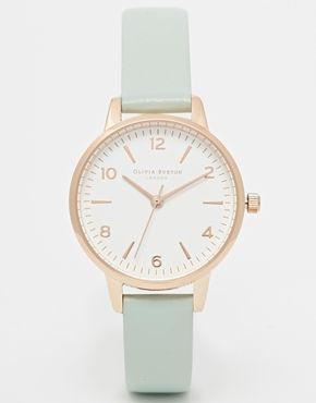 Olivia Burton For ASOS Midi White Face Mint Watch