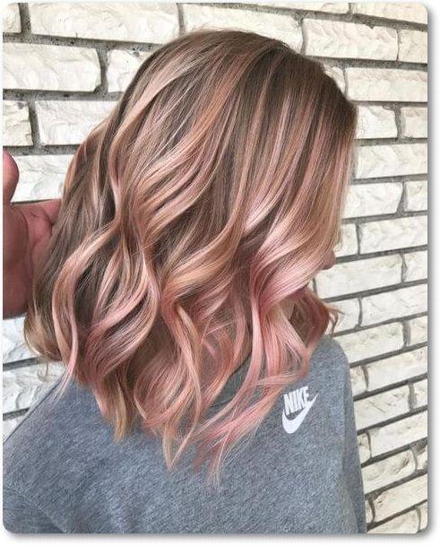Unwiderstehliche Rose Gold Haarfarbe Sieht Aus Vlasy