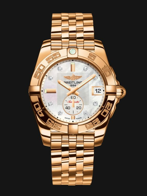 galactic 36 automatic by breitling gold