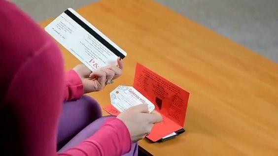Boarding pass wedding invitations - Custom made by Empire Invites