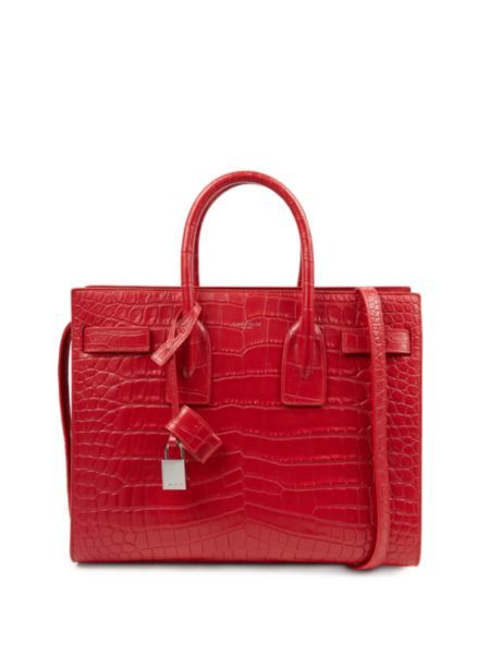 yves saint laurent sac de jour small alligator tote