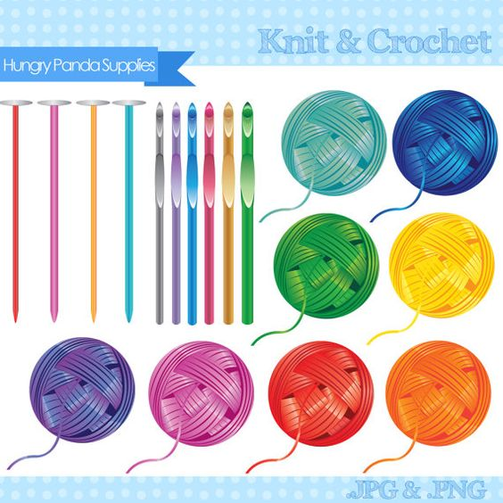 Crochet Yarn Clip Art