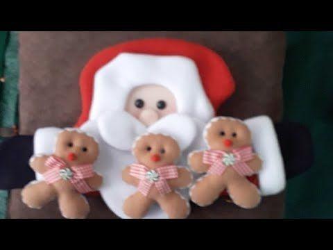 Papa Noel Youtube Cojin De Papa Noel   YouTube in 2020   Papa noel, Noel, Novelty
